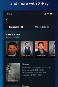 Amazon Prime Video screen 1