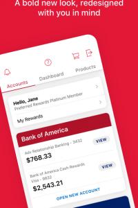Bank of America - Mobile Banking screen 5